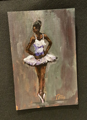 I Always Knew I Could, T. Ellis 6x4 T. Ellis miniature painting $850.00