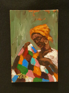 So Much Meaning, 6x4 T. Ellis miniature painting $850.00