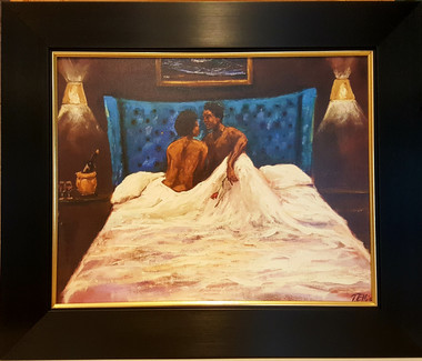 Black Romance- 16x20 canvas replica framed (approx. 22x26) 100 signed and numbered limited edition. $850.00