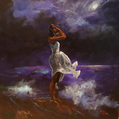 Enduring Beauty, 25x25, 1/1 hand embellished limited edition canvas replica framed (26x26) $1500.00