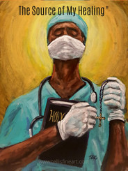 My Source of Healing- Prayer is the power that heals  20x16 signed poster  ''Our heroes are the doctors, nurses, paramedics, aides, caregivers , healthcare professionals  and service industry workers who risk their lives daily caring for those in need, especially during the ongoing pandemic crisis of #COVID19 outbreak. Keeping everyone in prayer. '' T. Ellis
