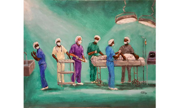 To Save and to Heal- 16x20 T. Ellis original framed $3750.00