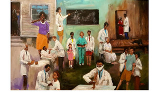 The Healers- 24x36, 100 signed and numbered canvas replica $850.00 framed