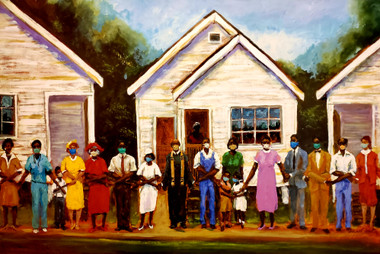 We Serve Our Community II- 11x17 signed print. We Serve Our Community...We Protect Our Community...We VOTE!!! . Change comes through protest and policy reform our voting power is equally important. We all stand together for change. T. Ellis 6/4/20
