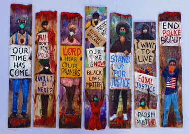 Unity for Justice, 20x27, hand signed print. reg. price $175.00