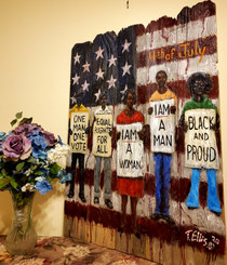 Independence Day-Still Fighting for Justice, 20x16 signed by artist T. Ellis $150.00