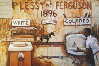 Plessy v Ferguson-hand-embellished gallery wrapped canvas replica. Reg. price $650.00 Shopping Spree Extravaganza Price $350.00