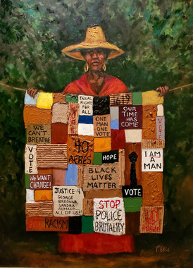 Our Story, Our Struggle, Our History-SSE-hand-embellished gallery wrapped canvas replica. Reg. price $650.00 Shopping Spree Extravaganza Price $350.00