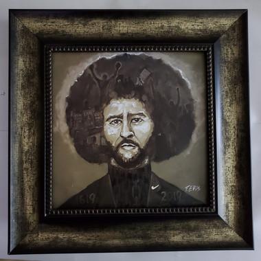 Colin Kaepernick- 15x15 framed textured print retail print $110.00 Shopping Spree Price $75.00