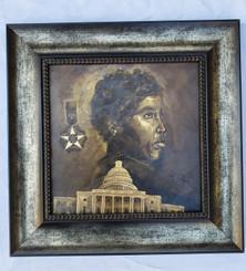 Barbara Jordan- 15x15 framed textured print retail print $110.00 Shopping Spree Price $75.00