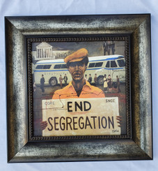Freedom Riders- 15x15 framed textured print retail print $110.00 Shopping Spree Price $75.00