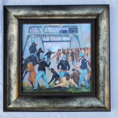 Bloody Sunday Framed- 15x15 framed textured print retail print $110.00 Shopping Spree Price $75.00