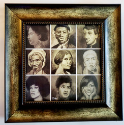 Black Suffrage Movement Framed- 15x15 framed textured print retail print $110.00 Shopping Spree Price $75.00