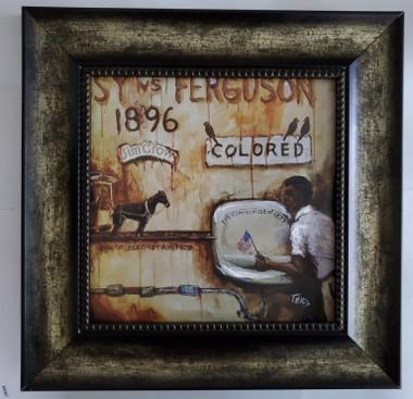 Plessy v Ferguson framed- 15x15 framed textured print retail print $110.00 Shopping Spree Price $75.00