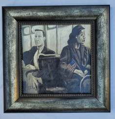 Rosa Parks, The Day She Sat Down Framed-SSE 15x15 framed textured print retail print $110.00 Shopping Spree Price $75.00