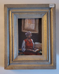 Grandma Reading the Word 6x4 miniature T. Ellis original framed. Regular price $850.00 50% savings!!! 24-hr Shopping Spree Price $425.00