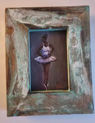 The Little Ballerina-6x4 miniature T. Ellis original framed. Regular price $850.00 50% savings!!! 24-hr Shopping Spree Price $425.00