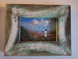 Enjoying My Day-4x6 miniature T. Ellis original framed. Regular price $850.00 50% savings!!! 24-hr Shopping Spree Price $425.00
