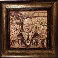The John Lewis Story-16x16 framed textured print by T. Ellis $95.00