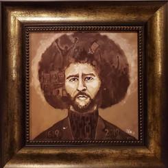 Colin Kaepernick-16x16 framed textured print by T. Ellis