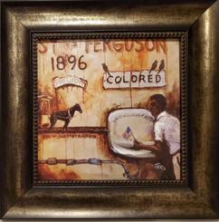 Plessy v Ferguson-16x16 framed textured print by T. Ellis
