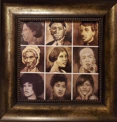 Black Suffragist-16x16 framed textured print by T. Ellis