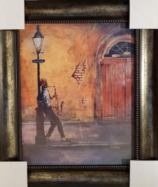 Bourbon Street framed- 20x16 textured print. Regular price $425.00