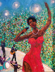 Diva in Concert- 24x30 gallery wrapped canvas