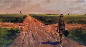 At the Crossroads- 18x24 hand embellished gallery wrapped canvas value $500.00