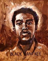 A Tribute to A Hero and King- Chadwick Boseman-20x16  hand signed print on archival paper. Boseman provided so much dignity in his acting and how he lived his life. Regular price $175.00