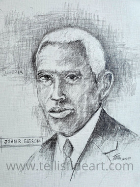 John R.Gibson-Pioneering Educator, Galveston, TX  14x11 hand signed archival print on rag paper  $85.00  Gibson's story is just one of those many hidden stories, the tale of a pioneer educator, civil rights activist and United States consul general to Liberia.  Gibson served as principal of Galveston's Central High School, the first Black high school in Texas, for 50 years, from 1886 to 1936. Collins will illuminate his long career as an educator as well as his significant contributions to the community's well-being, including during the 1900 Storm.