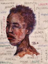 """I Am That Woman"", 14x11, watercolor, T. Ellis print. $95.00"
