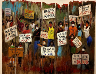Our Future is in Our Vote-24x30 hand signed print by artist T. Ellis  $175.00 Free shipping!!!