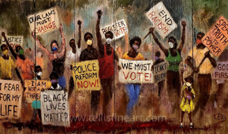 Our Vote Matters-18x28 signed poster by T. Ellis is part of the T. Ellis social justice series.