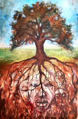 My Ancestral Tree-24x18, signed by T. Ellis. The story of my ancestry, history and culture. The resilience to survive and overcome adversity.