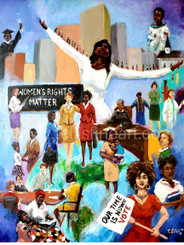 Women's Rights Matter- 30x24, signed archival print by T. Ellis $195.00