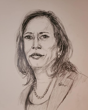 Vice President Kamala Harris, 24x18, premium archival paper, T. Ellis signed limited edition of 46 prints