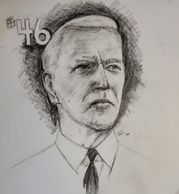 President Joe Biden, 24x18, premium archival paper, T. Ellis signed limited edition of 46 prints