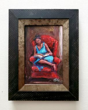 The Word comforts Me, 6x4 miniature T. Ellis original framed $850.00