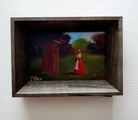 It's Still There, 6x4 miniature T. Ellis original framed $850.00