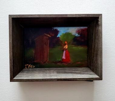 It's Still There, 6x4 miniature T. Ellis original framed $850.00