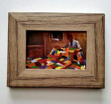 My Blanket of Love, 6x4, miniature T. Ellis original framed $850.00