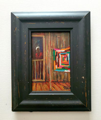 My Story in Plain View, 6x4, miniature T. Ellis original framed $850.00