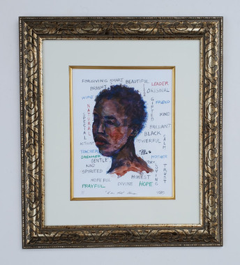 I Am That Woman- matted and framed, size 21.5x25 by T. Ellis