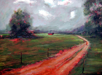 """My Old Country Road"", is part of the T. Ellis Landscape Collection. The signed print measures 11x14 on acid free archival paper. These series of  landscapes paintings captures the natural beauty of southern wetlands, fields, marshes and bayous."