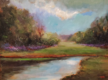 """""""My Place to Reflect"""", is part of the T. Ellis Landscape Collection. The signed print measures 11x14 on acid free archival paper. These series of  landscapes paintings captures the natural beauty of southern wetlands, fields, marshes and bayous."""