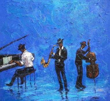 T. Ellis creates, Give Me Some Blues in My Jazz, 24x24 gallery wrap canvas print. Only 150 signed limited edition canvas prints.  $750.00 www.tellisfineart.com