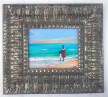 Enjoying the Day Together, 8x10, T. Ellis framed original painting, 2014. $2,350.00 www.tellisfineart.com