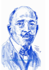 """W. E. B. Du Bois, 17x11, signed digital print by T. Ellis $30.00  Black History...American History 
