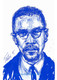 """Malcolm X, 17x11 T. Ellis signed digital art print www.tellisfineart.com  Black History...American History 
